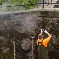 Přehrada Les Království - oprava nábřežní zdi