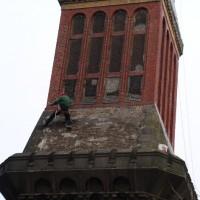 Dolní Smržovka – havarijní oprava továrního komínu