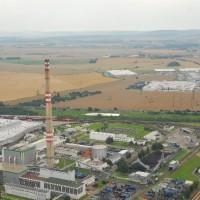 Mladá Boleslav areál Auto Škoda – výměna litinových segmentů na hlavě 200m komína